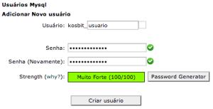 Adicionar novo usuário MySQL