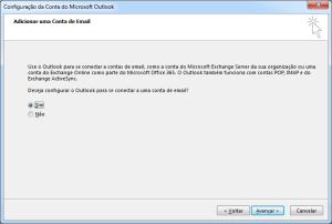 Outlook: Adicionar nova conta de e-mail