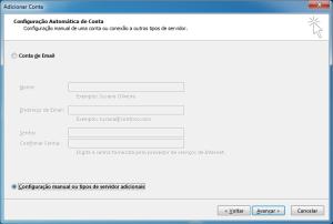 Outlook: configuração manual