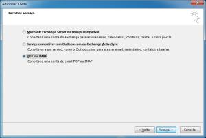 Outlook: POP ou IMAP