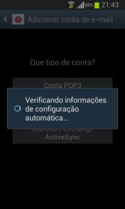 Android verificando informações de configuração