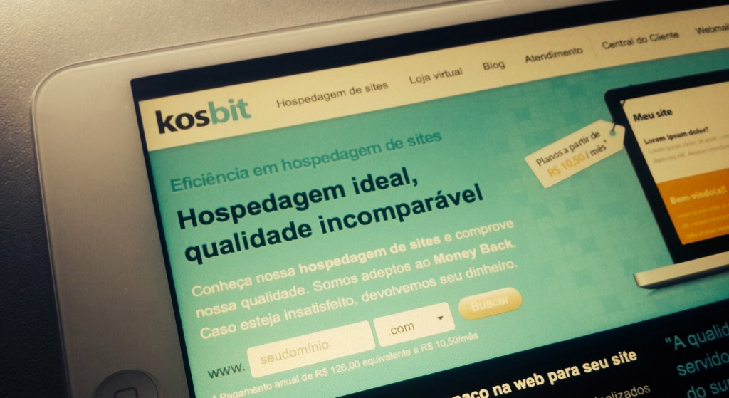 Página inicial da Kosbit